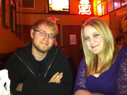 My brother & I at dinner before Wicked